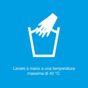 Lavare a mano a una temperatura massima di 40°