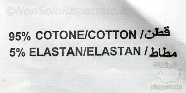 Etichetta composizione dei tessuti