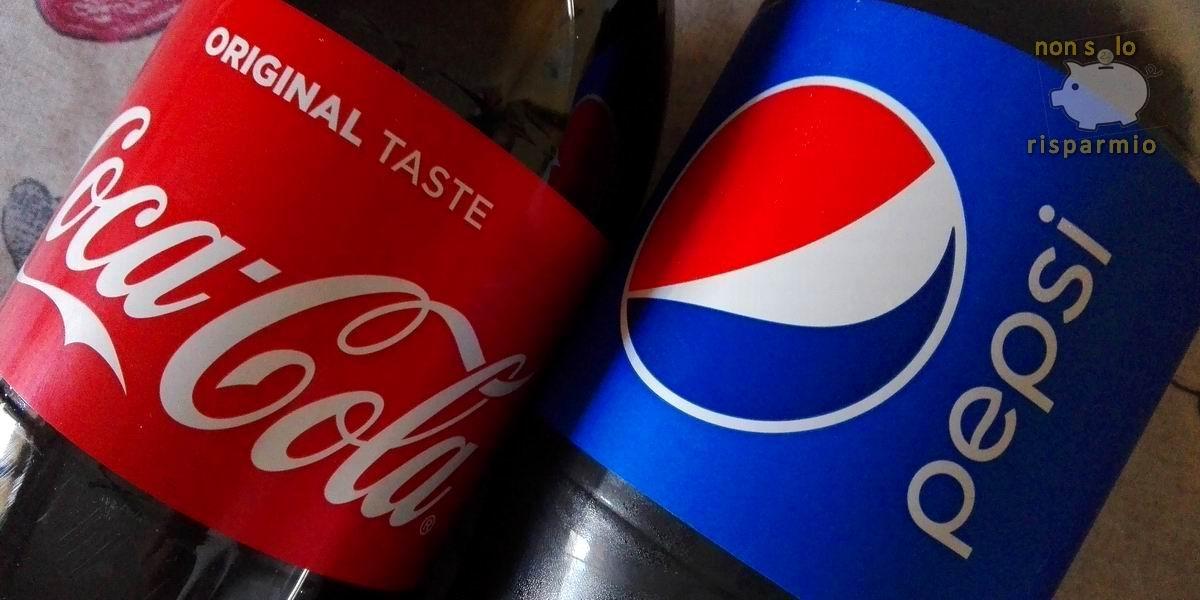 CocaCola e PepsiCola - colorante e150d (foto Maurizio Cuomo - www.nonsolorisparmio.it)