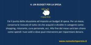 04. un budget per la spesa