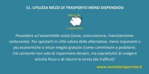 11. mezzi di trasporto meno dispendiosi