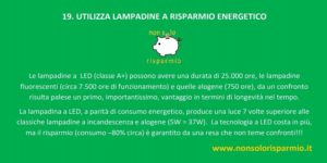 19. lampadine a risparmio energetico