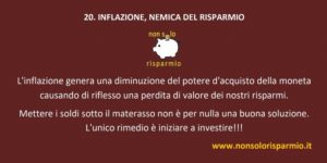20. inflazione, nemica del risparmio
