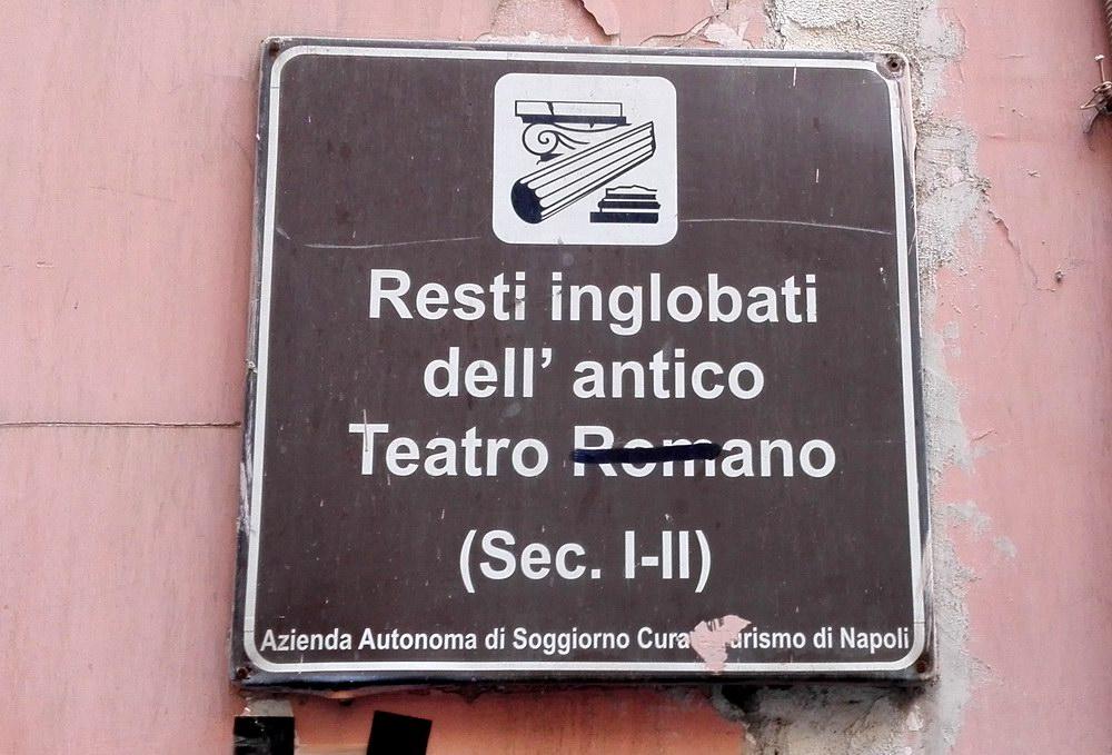 Napoli Sotterranea - Antico Teatro Romano (foto Maurizio Cuomo - Spunti di Viaggio)